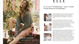 Okładka magazynu ELLE oraz artykuł: Nowy wymiar terapii laserowej dla każdego! laser PLEASE®