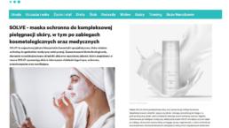 Maska SOLVE okładka kobieta.pl