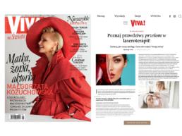 Okładka Viva.pl Poznaj prawdziwy przełom w laseroterapii!