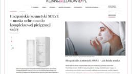 maska solve kompleksowa ochrona skóry